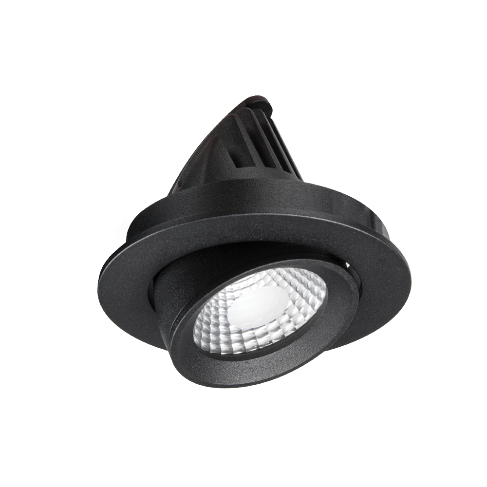 Apex Adjustable UV Textured Black 3000K Downlight