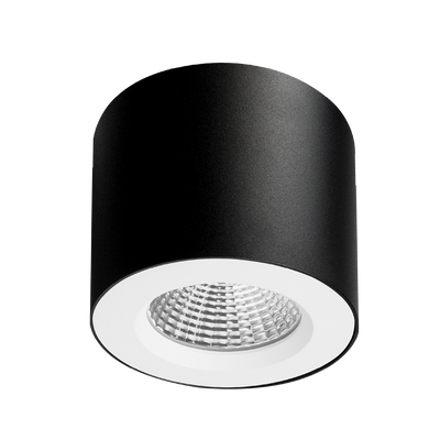 Apex Textured Black/White Surface Mounted Downlight