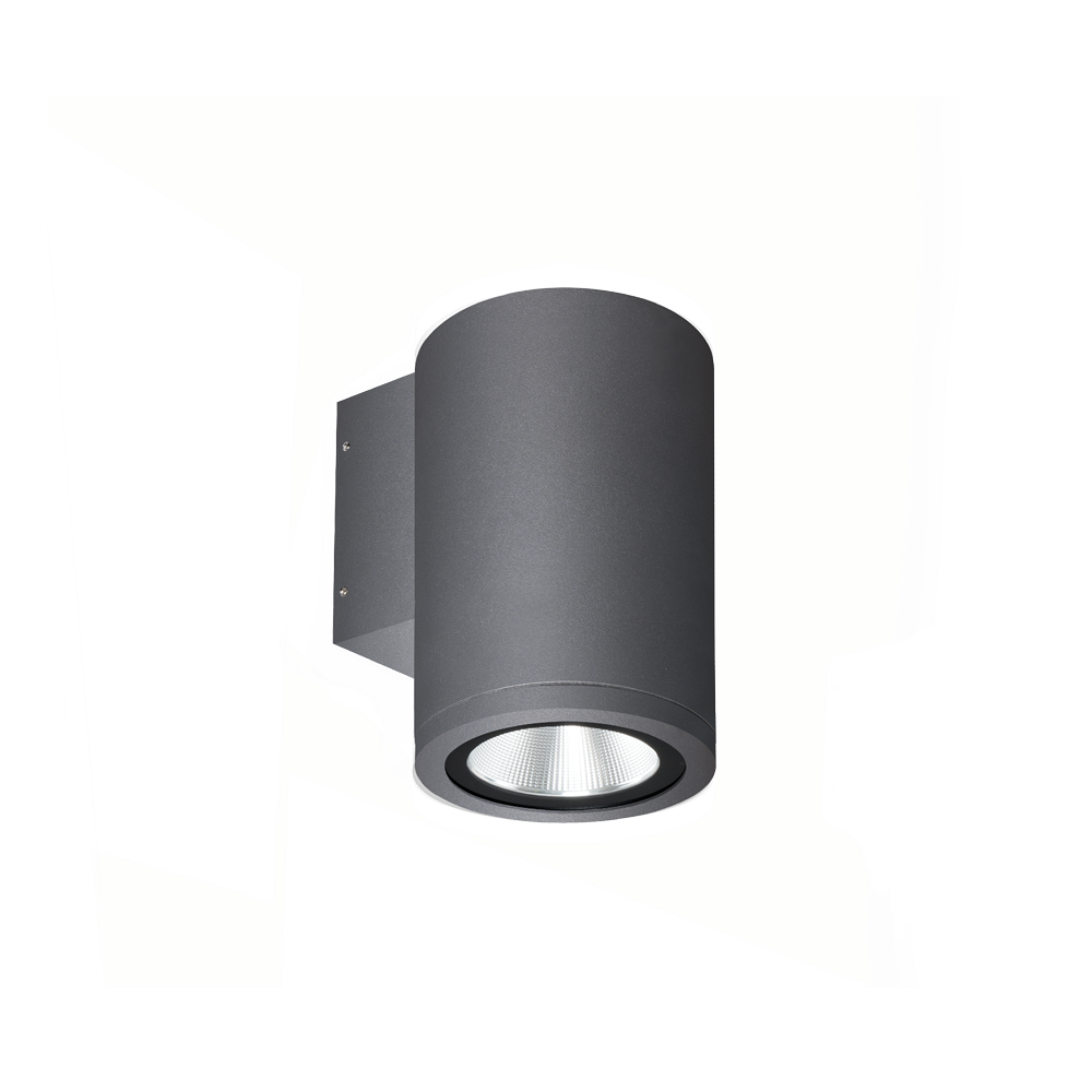Athena Grey Exterior Fixed One Wall Light