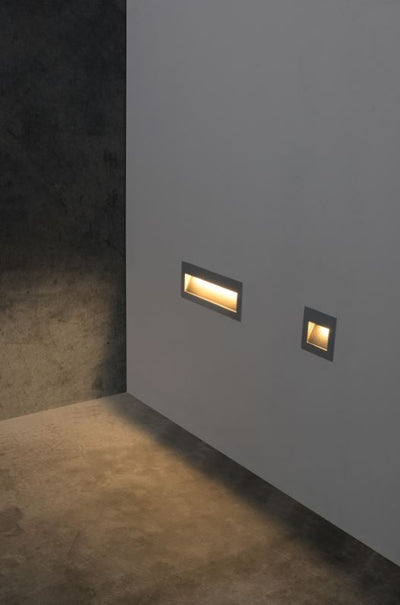 Cuadro 2W Grey Wall Light