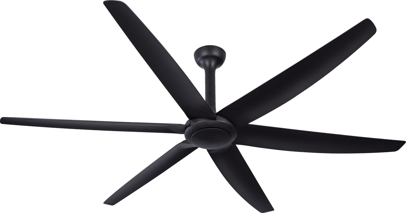 The Big Fan Matt Black with Black Blades Ceiling Fan
