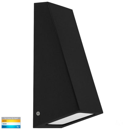 Taper Black TRI Colour 9W LED Wedge Wall Light