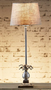 Bora Antique Silver Table Lamp