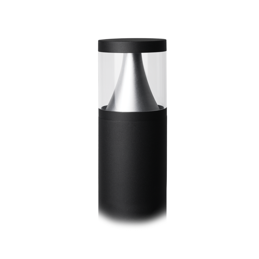 Castell 600mm Black Bollard Light