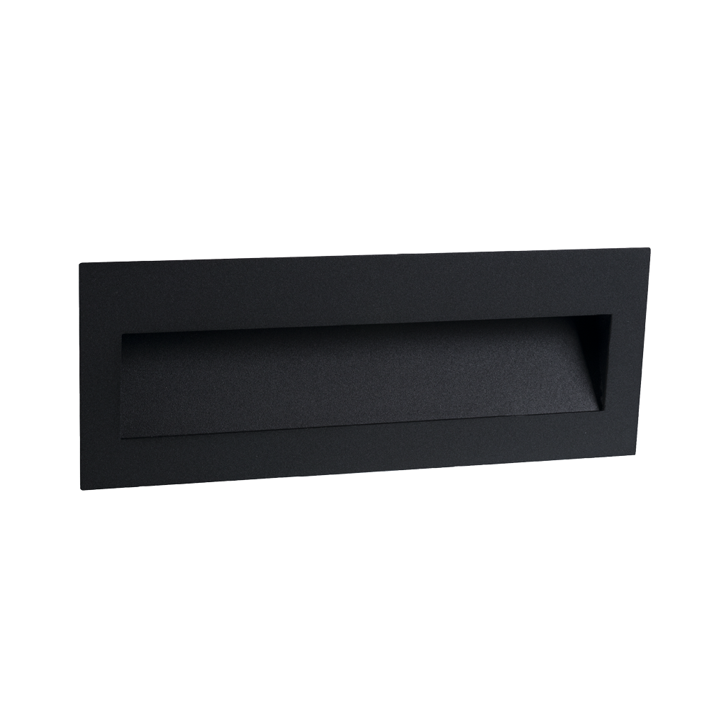 Cuadro 8W Black Large Wall Light