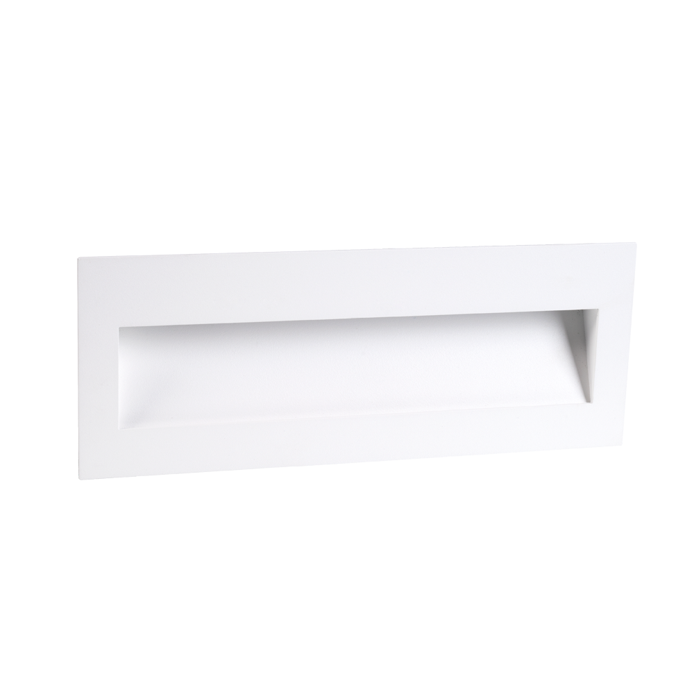 Cuadro 8W White Large Wall Light