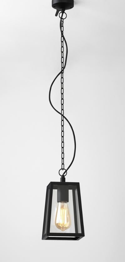 Calvi Textured Black Outdoor Pendant