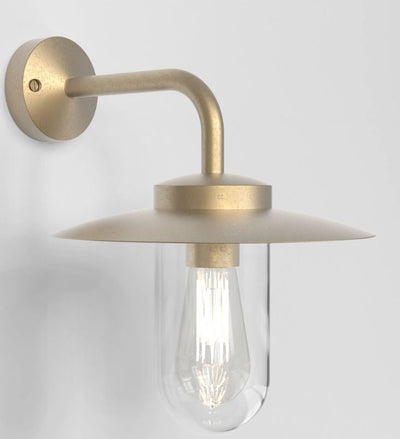 Portree Coastal Brass Wall Light