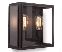 Lille Old Bronze with Frosted Tempered Glass Exterior Ceiling Light