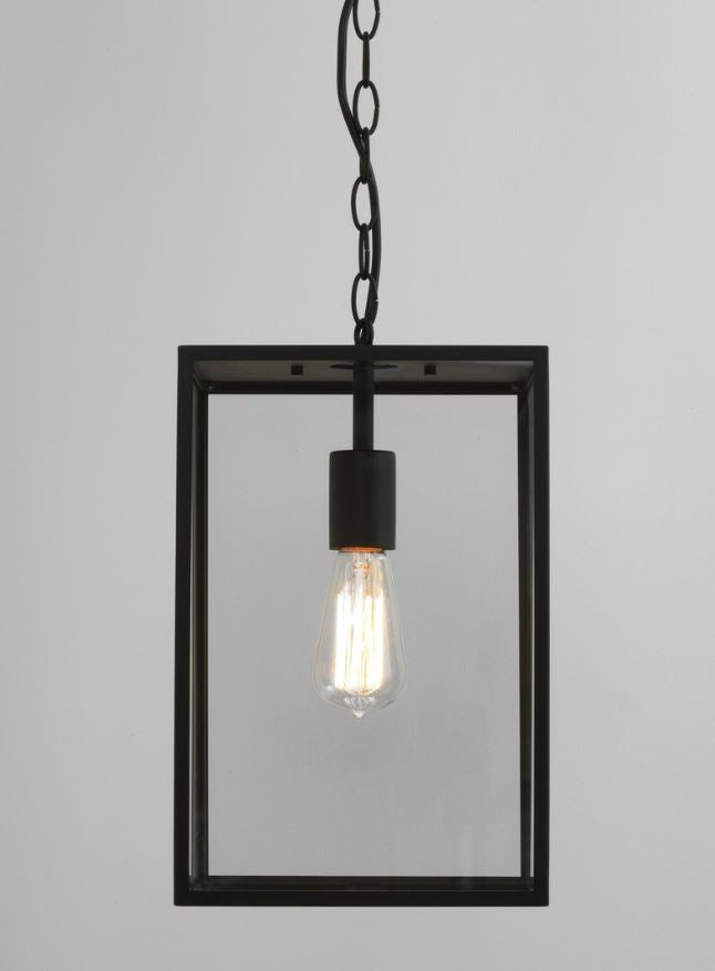 Homefield Large Textured Black Pendant