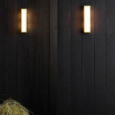 Salerno Natural Brass Coastal Wall Light