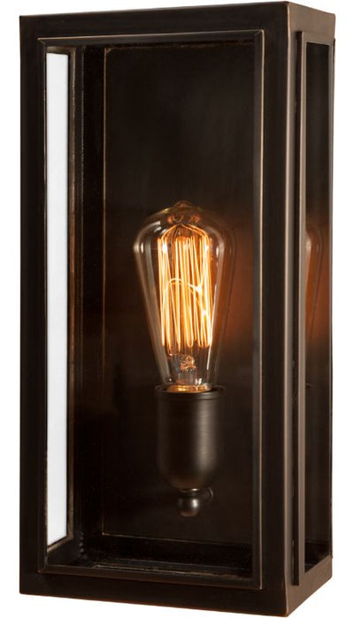 Lille Medium Old Bronze Clear Glass Exterior Wall Light