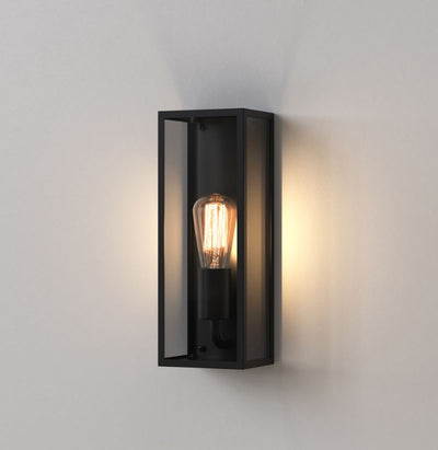 Messina Small Textured Black Wall Light