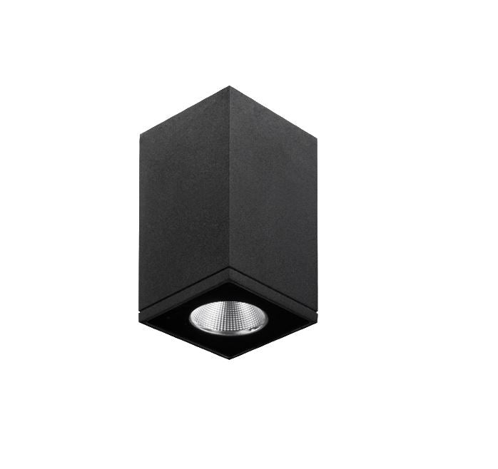 Zeron Mini Black Exterior Surface Mount Down Light