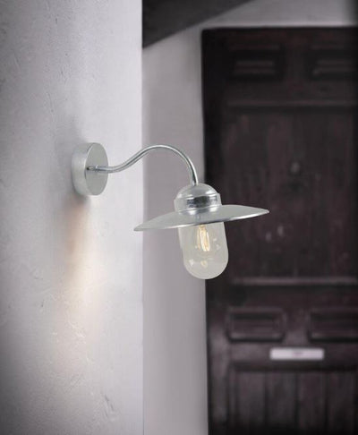 Luxembourg Galvanised Steel Exterior Wall Light