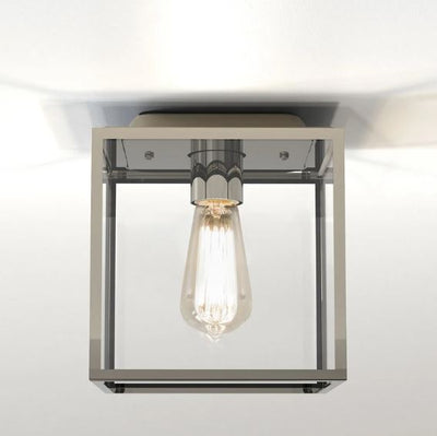 Box Polished Nickel Ceiling Light