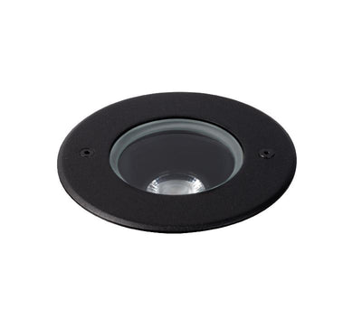 Compass 11W Black 3000K Adjustable Inground Uplight