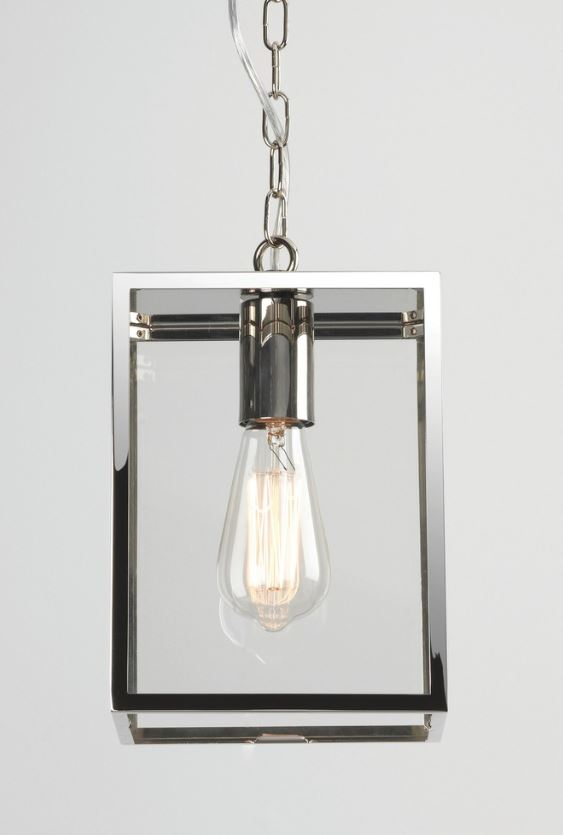 Homefield Small Polished Nickel Pendant