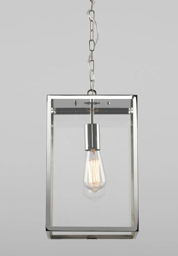 Homefield Large Polished Nickel Pendant