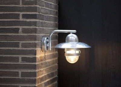 Nibe Galvanised Steel Wall Light