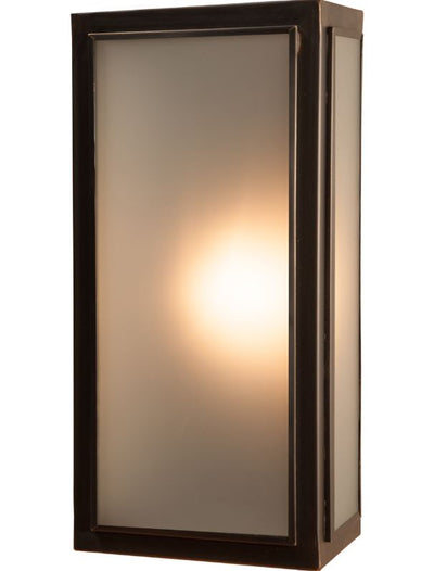 Lille Medium Old Bronze Frosted Glass Exterior Wall Light