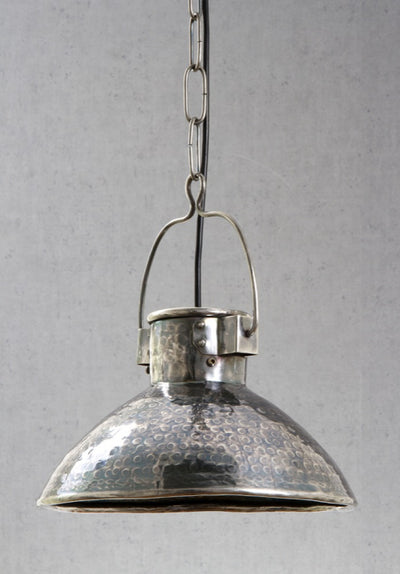Claude Hanging Lamp in Antique Silver