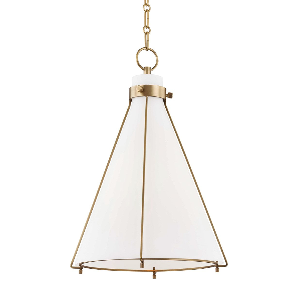 Eldridge Peak Aged Brass Pendant