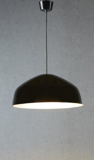 Frankston Hanging Lamp Black with Silver Lining