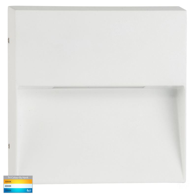 Virsma White Square LED Step Light