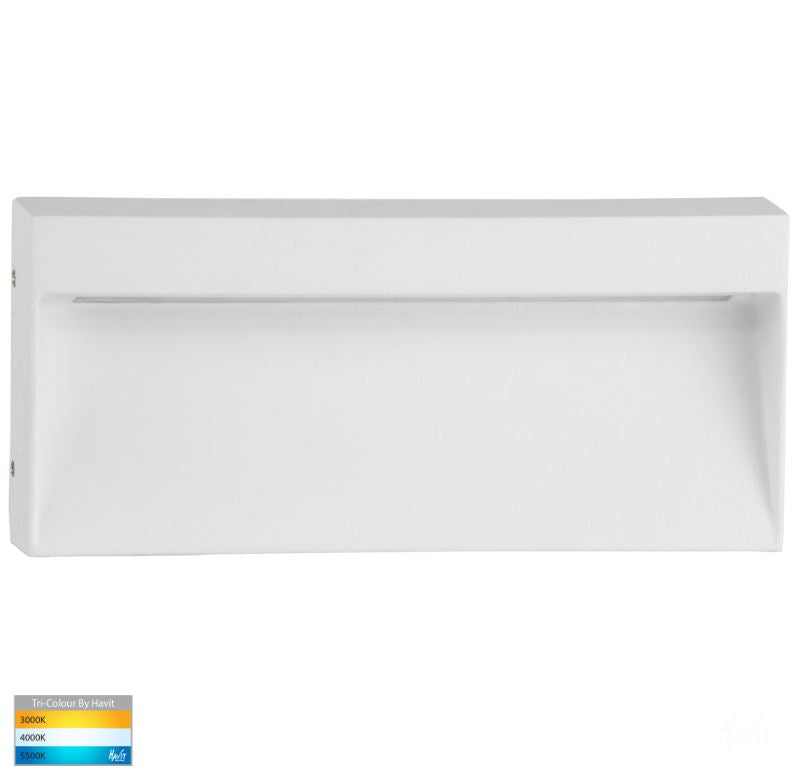 Virsma White Rectangle LED Step Light