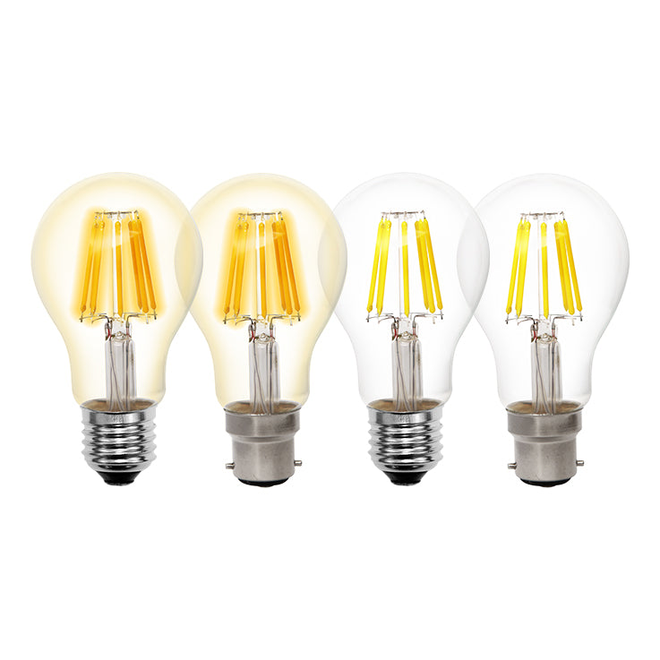Filament 8W BC/B22 GLS LED Dimmable Full Glass Lamp