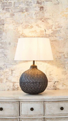 Gadsden Leaf Black Table Lamp