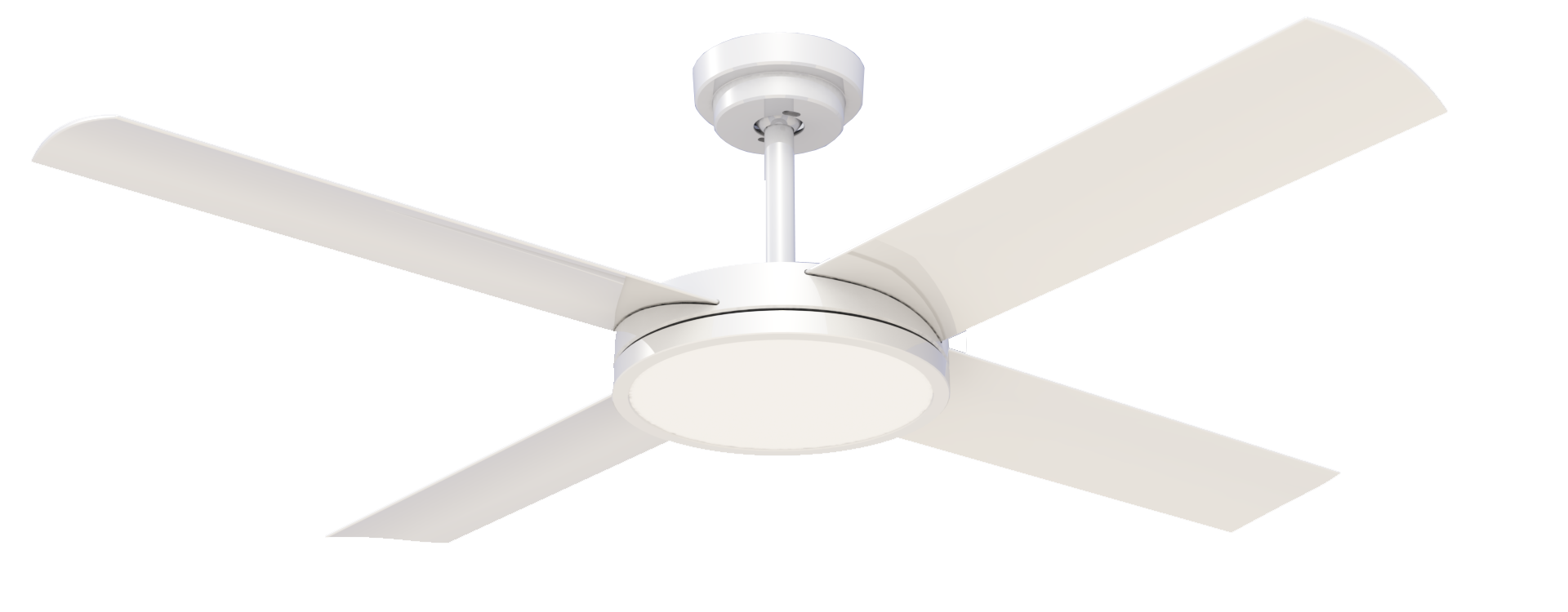 "Revolution 3 with 24W LED Light (Dimmable) 52"" Ceiling Fan - White"