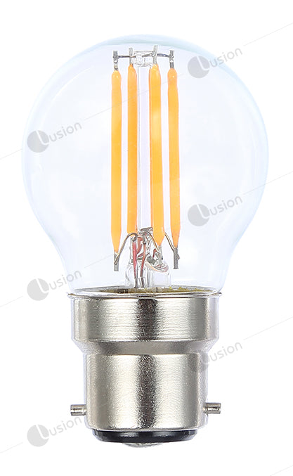 Filament Fancy Round BC/B22 LED Dimmable Full Glass Lamp