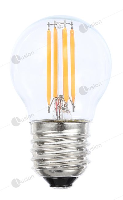 Filament Fancy Round ES/E27 LED Dimmable Full Glass Lamp