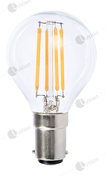 Filament Fancy Round SBC/B15 LED Dimmable Full Glass Lamp
