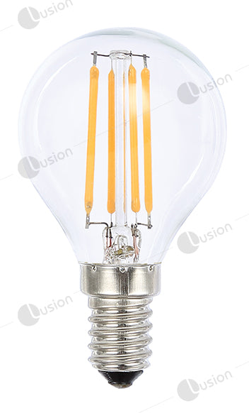 Filament Fancy Round SES/E14 LED Dimmable Full Glass Lamp