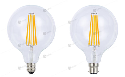 Filament Spherical LED G125 Dimmable Full Glass Lamp