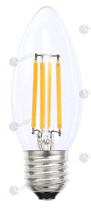 Filament Candle ES/E27 LED Dimmable Full Glass Lamp