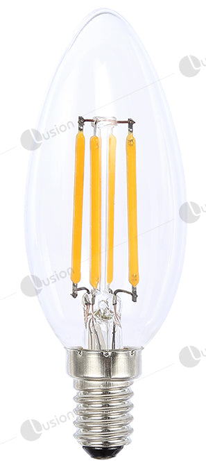 Filament Candle SES/E14 LED Dimmable Full Glass Lamp