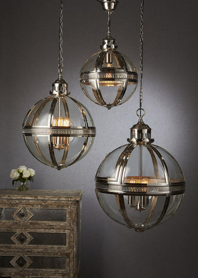 Lawson Pendant Lamp Large Shiny Nickel