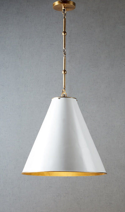 Marlo Hanging Lamp with Brass Lining