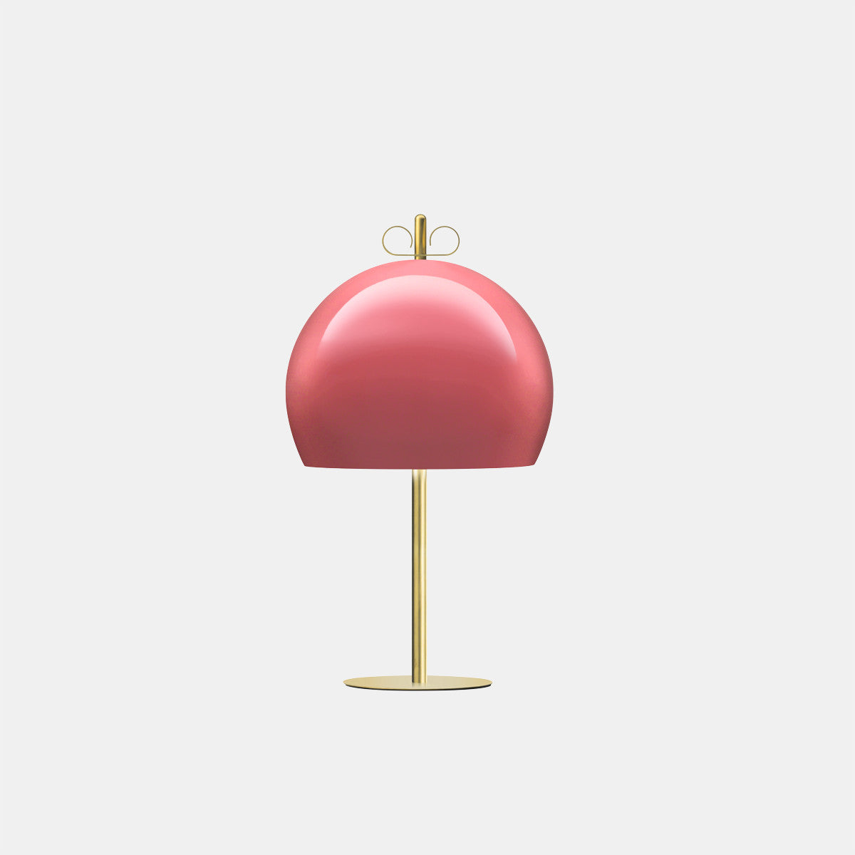 Bon Ton 35 Antique Pink/Natural Brass Table Lamp