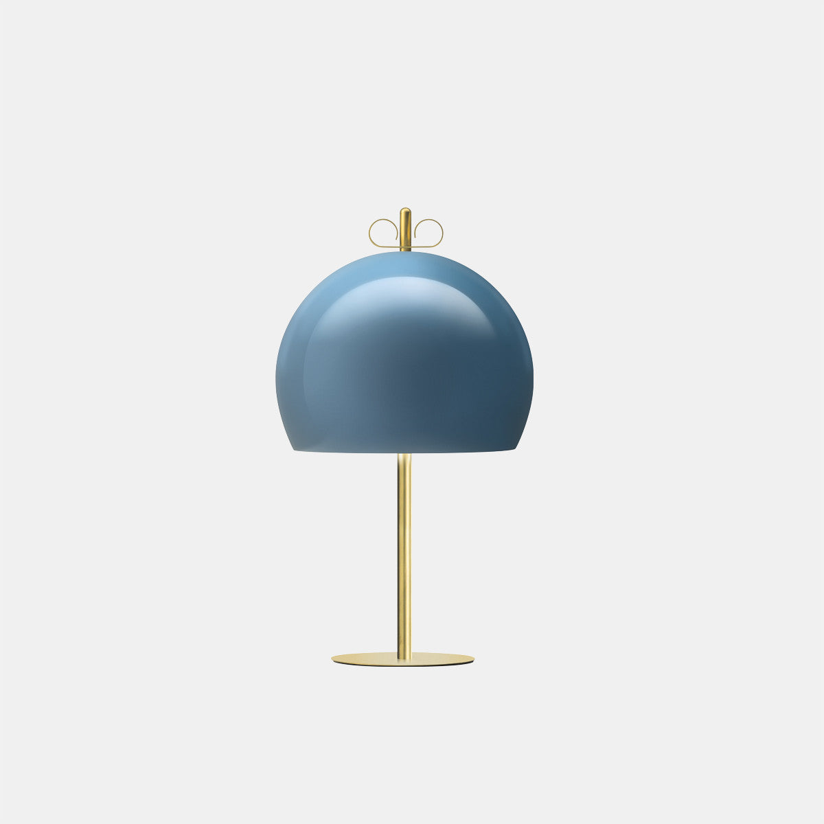 Bon Ton 35 Light Blue/Natural Brass Table Lamp