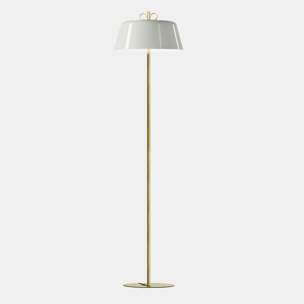 Bon Ton Grey/Natural Brass Floor Lamp