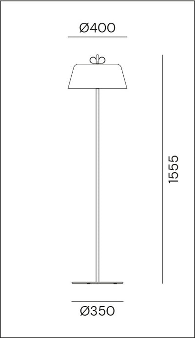 Bon Ton Light Blue/Natural Brass Floor Lamp
