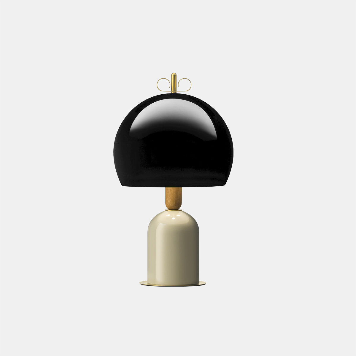 Bon Ton Black/Grey/Natural Brass Table Lamp