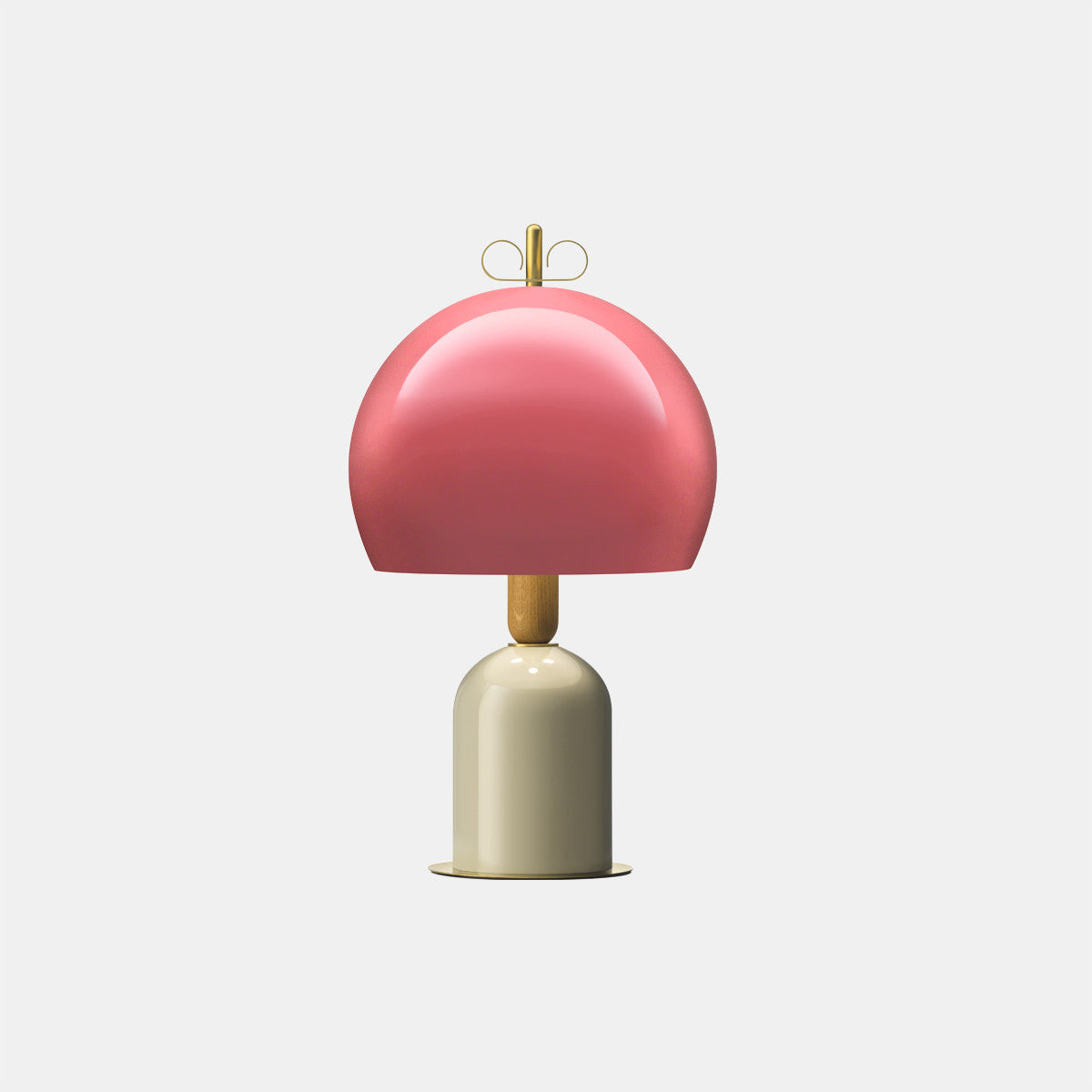 Bon Ton Light Antique Pink/Grey/Natural Brass Table Lamp