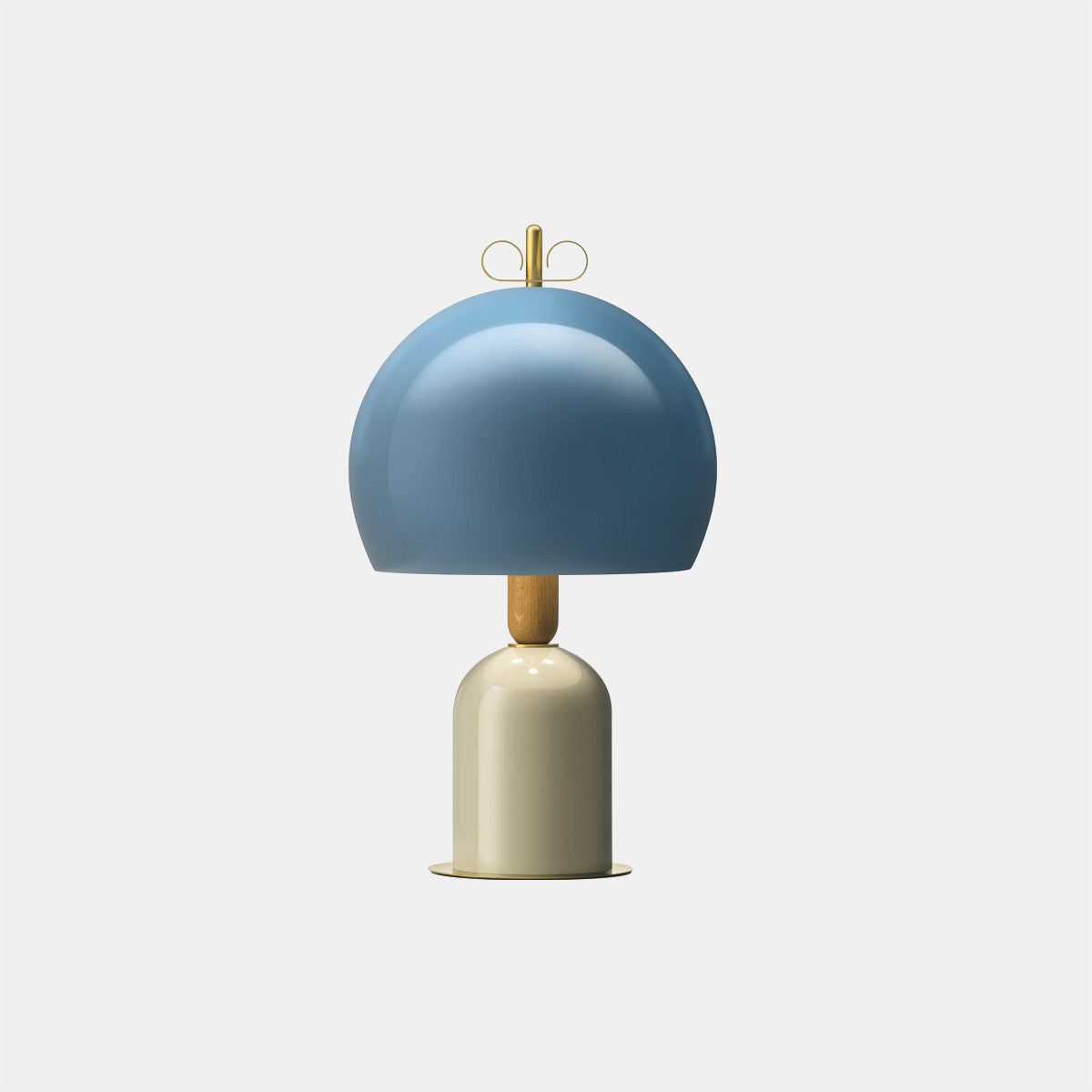 Bon Ton Light Blue/Grey/Natural Brass Table Lamp