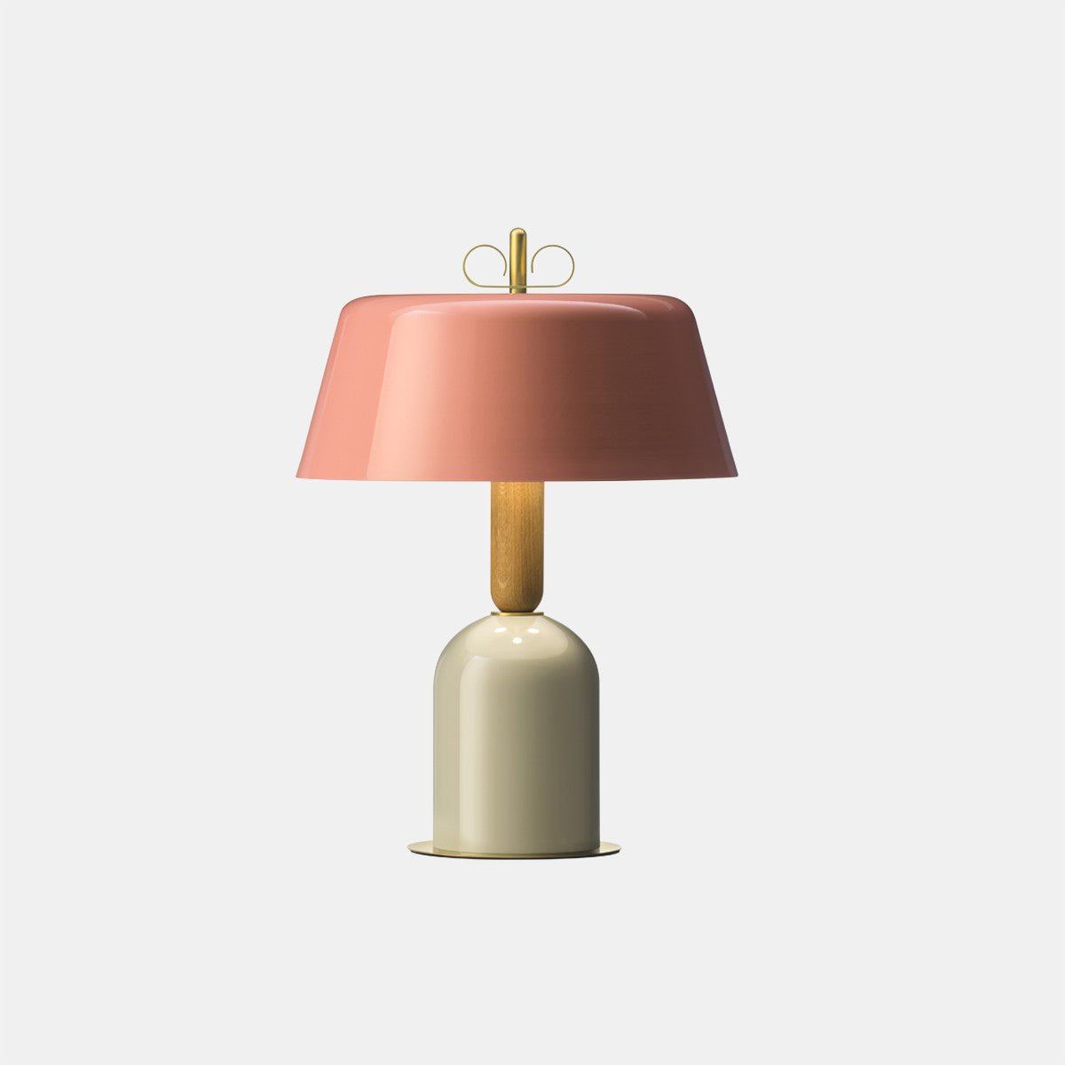 Bon Ton Pink/Grey/Natural Brass Table Lamp